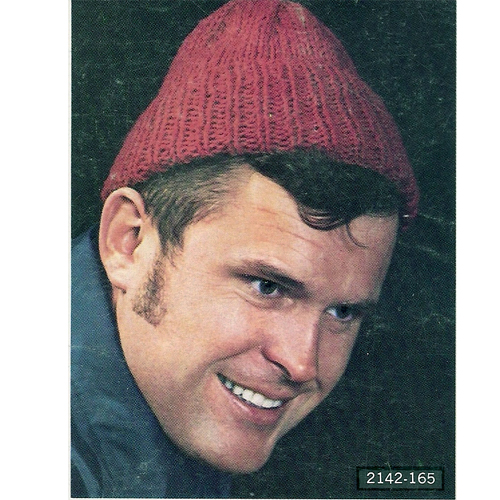 Vintage Knit Crochet Shop Talk Mens Knitted Beanie Hat Free Pattern