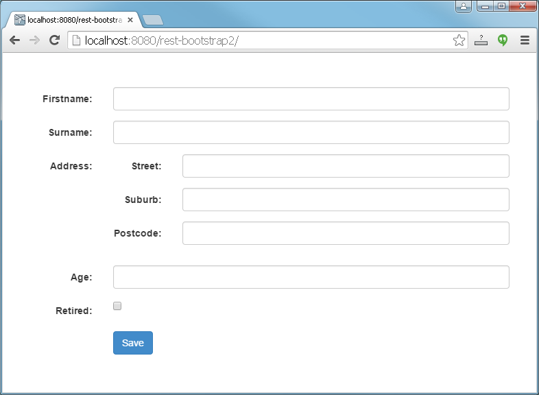 Javascript Form Generator From Java Ee To Bootstrap 3 Part 2