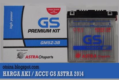 Rincian Harga Aki Motor GS Astra Terbaru 2015