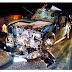 Carro do prefeito de Lago dos Rodrigues fica destruído após acidente