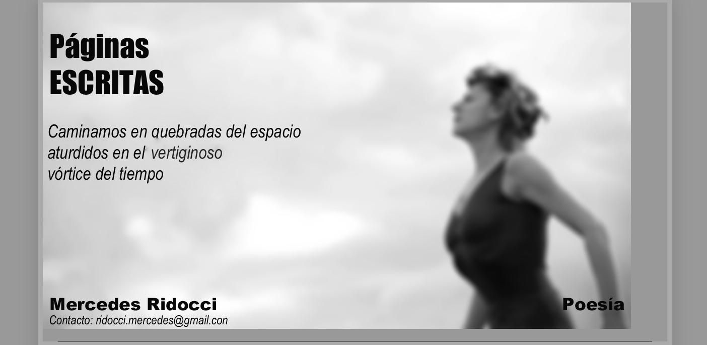 PÁGINAS ESCRITAS - POESÍA / ridocci.mercedes@gmail.com