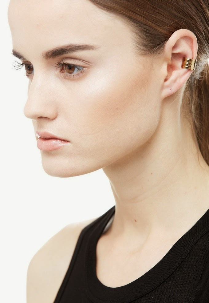 LUV AJ gold ear cuff trend jewelry