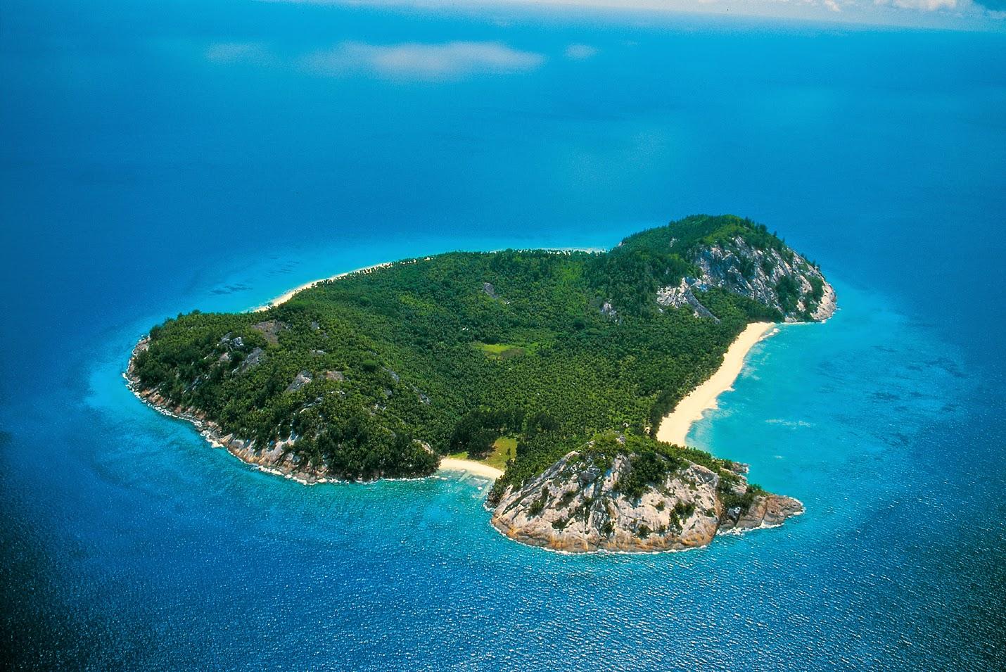 North Island, Seychelles island, beach