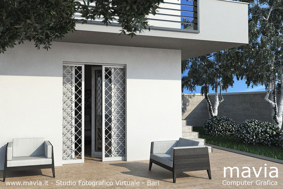 Arredamento di interni rendering 3d infissi e serramenti pubblicit porte finestre - Tende per porte esterne ...
