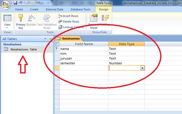 Aplikasi Data Mahasiswa di VB Net Dengan Database Acces 2007