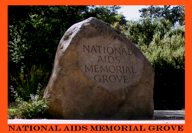 The entrance to the National Aids Memorial Grove in Golden Gate Park.