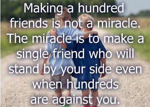 Single Friend Who Will Stand By You   Inspirational Picture Quotes