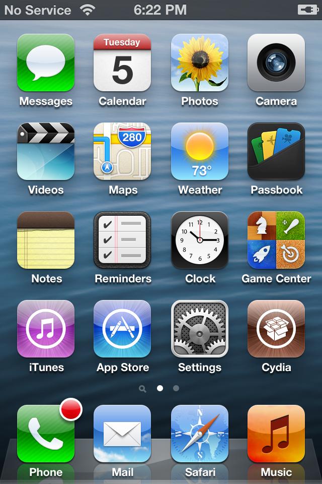 ... Jailbreak iOS 6.x Untuk iPhone dan iPod Touch Dengan Evasi0n