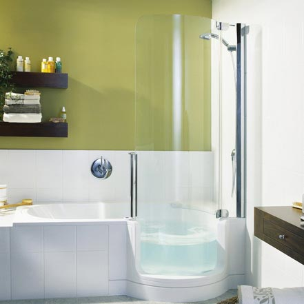 Enjoy Steam Shower And The Bathtub All At The Same Time
