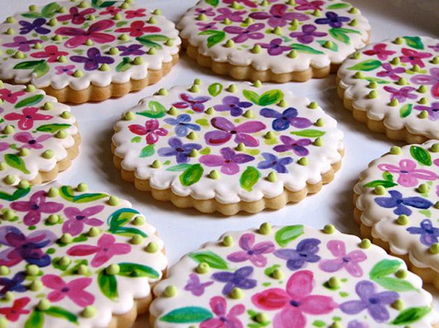 biscoito biscoitinho decorado flor flores lembrancinha