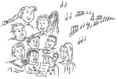 Chorale les cl s de sol vous aimeriez chanter venez avec - Chorale dessin ...