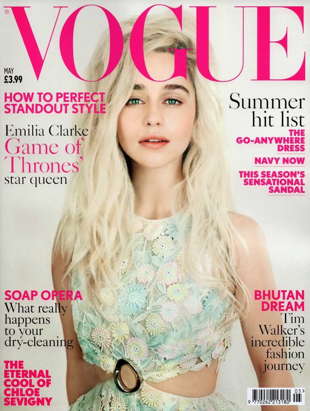Actress @ Emilia Clarke - Vogue UK May 2015