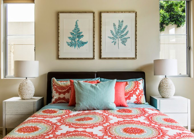 Highgate house for Coral and turquoise bedroom ideas