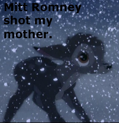 Mitt Romney shot Bambis mother