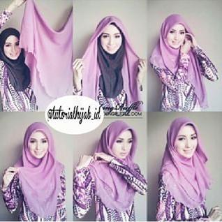 Tutorial Hijab Paris Untuk Hang OutTutorial Hijab Versi Gambar