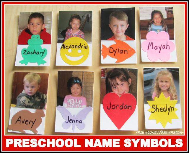 Preschool Names Coordinating with Symbols