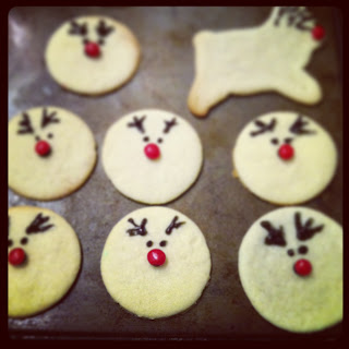 reindeer holiday sugar cookies