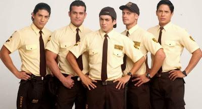 """Luis Baca con sus amigos de la Teleserie """"Mi amor el Wachiman"""""""