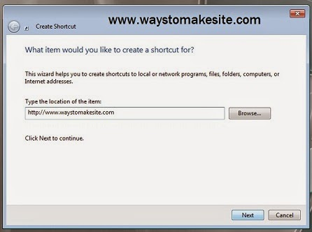 How to Make a Shortcut to a Website
