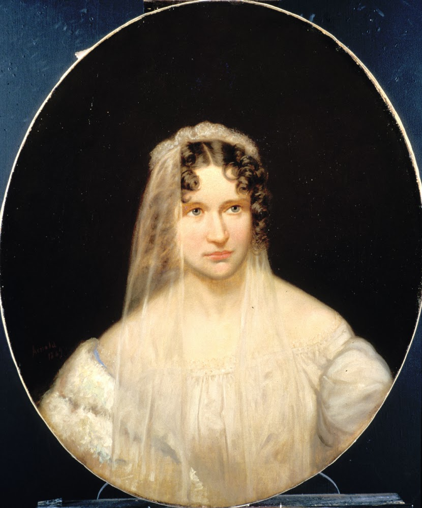 Portrait of Sarah Helen Whitman by C. G. Thompson, 1838.