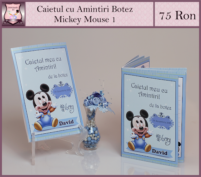 caiet amintiri botez  Mickey Mouse