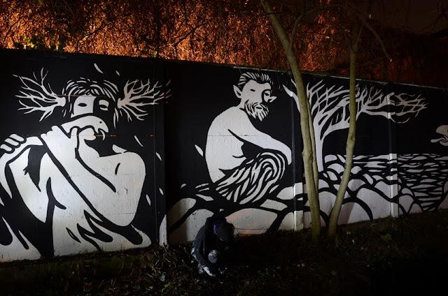 """Panismo"" New Street Art Piece By Italian Artist MP5 In Torino. 5"