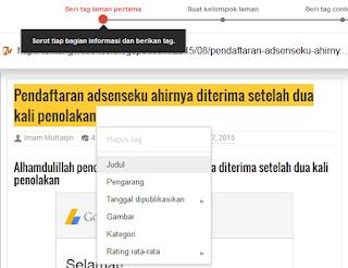 Cara menyorot data di webmaster