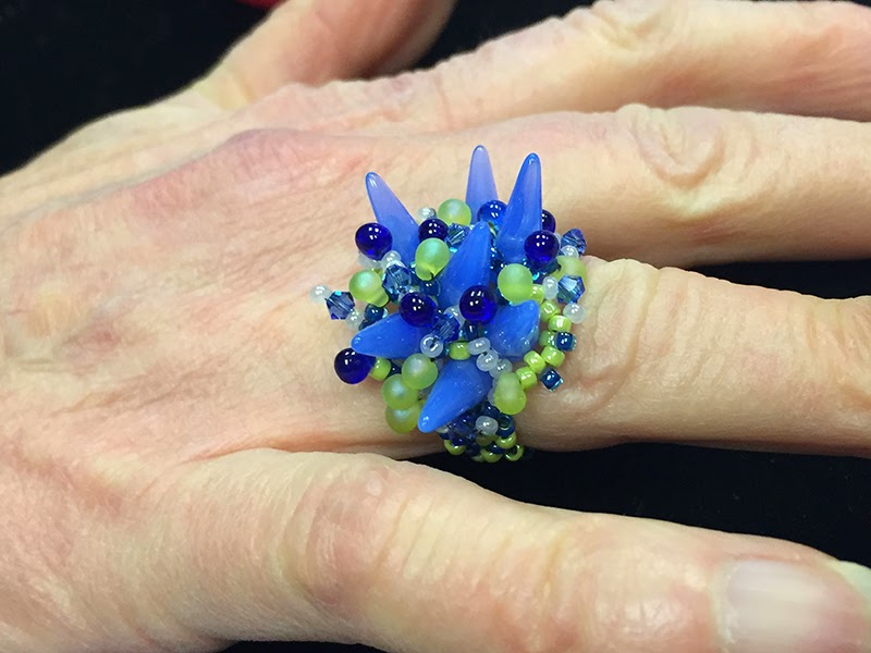 Freeform Peyote Ring by Linda