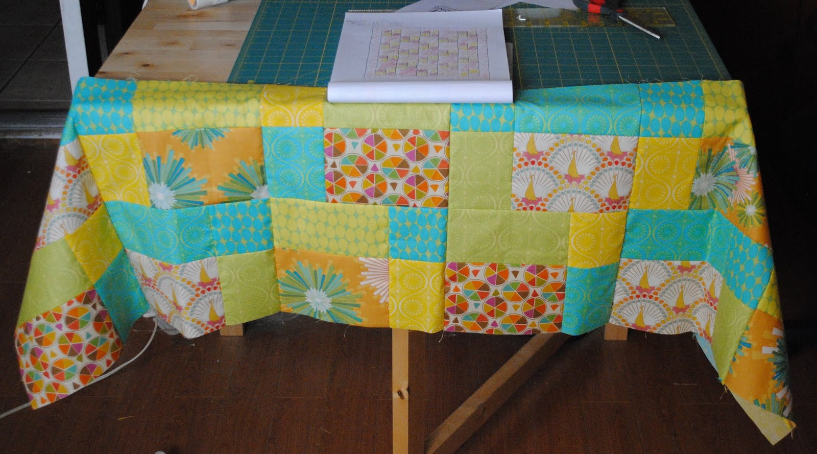Completed Table Runner Top