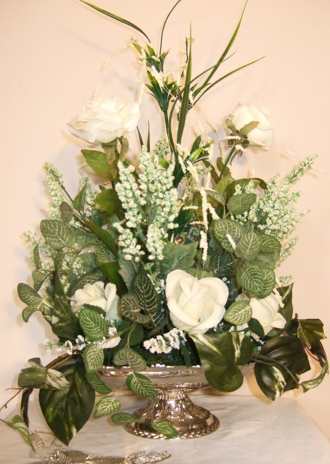 Ana Silk Flowers PIctures Silk Flowers White Arrangements d weddin