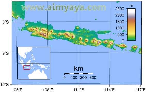 Gambar: Contoh tampilan peta pulau jawa