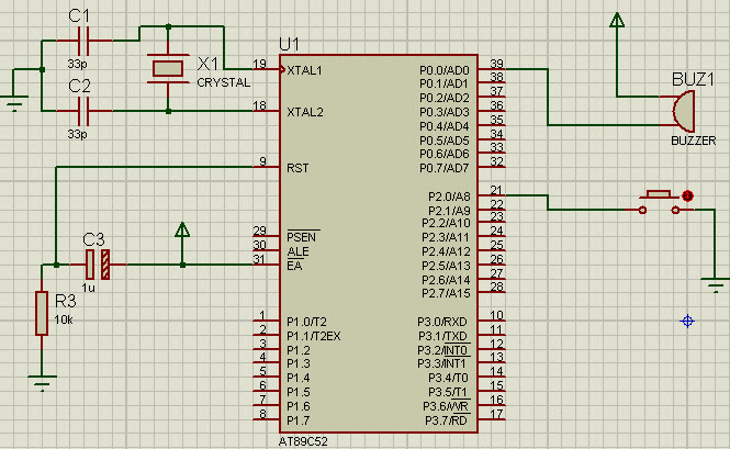 Buzzer Interface With 8051 Microcontroller