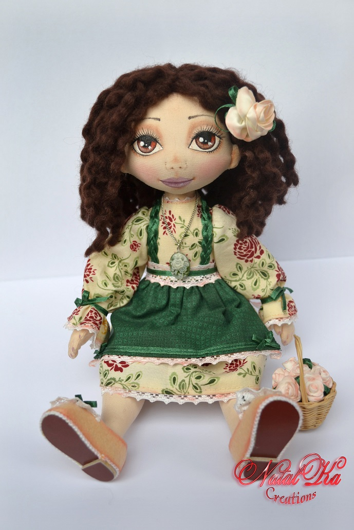 Cloth art doll. Handgemachte Stoffpuppe