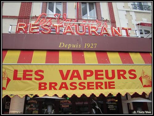 Brasserie Les Vapeurs Trouville Fruits de mer