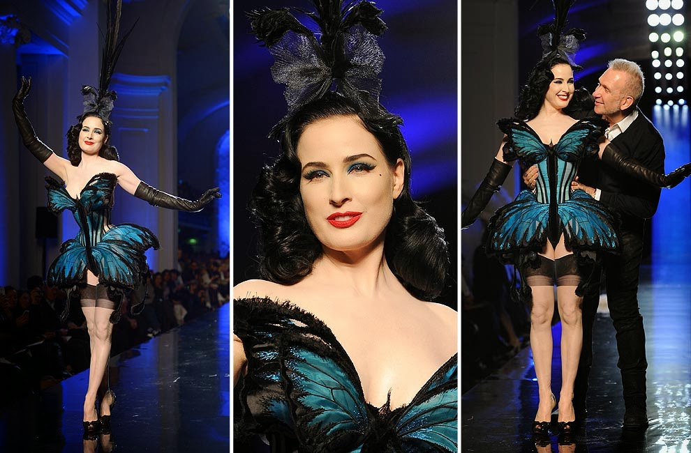 Dita Von Teese Rocks Jean Paul Gaultiers Couture Show In Paris photo 8