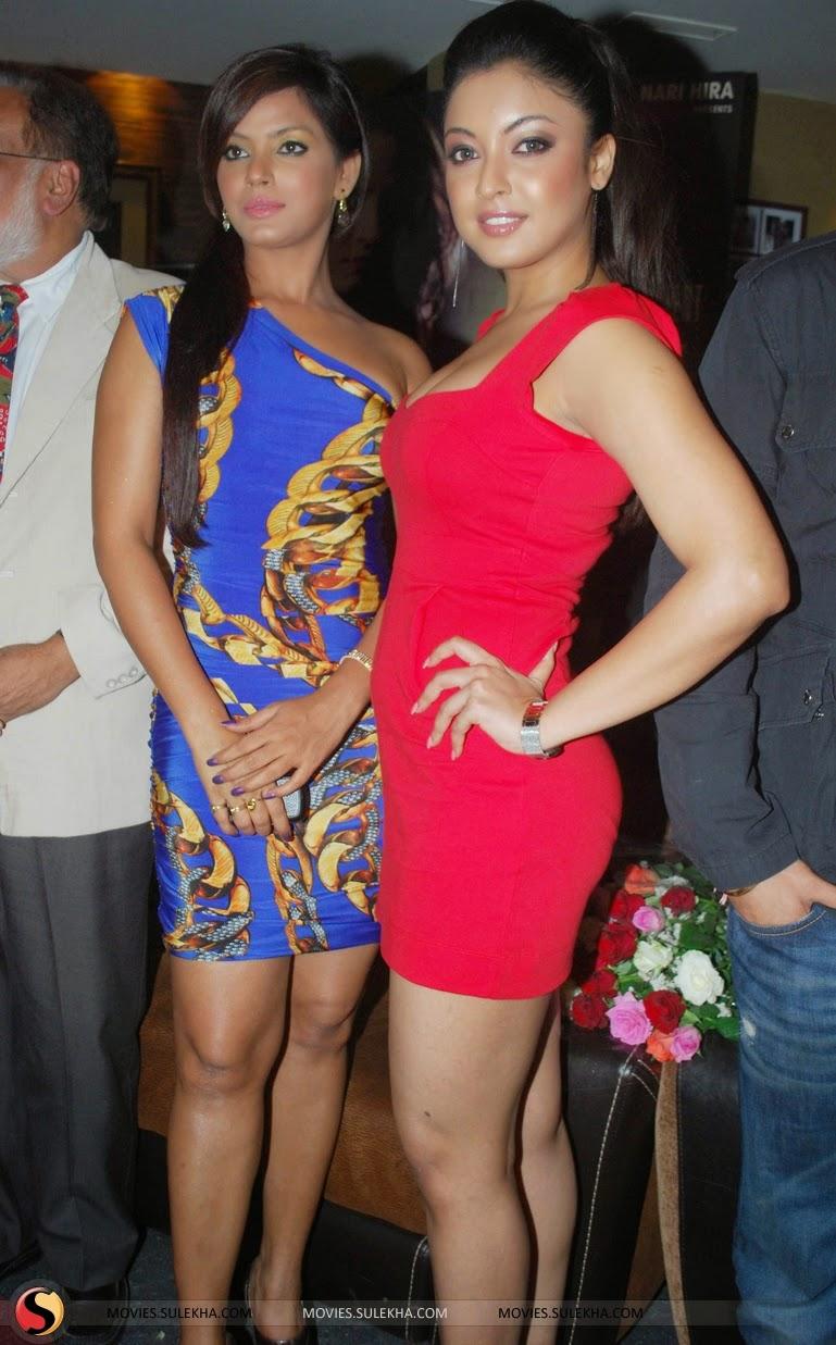 Tanushree Dutta red short dress