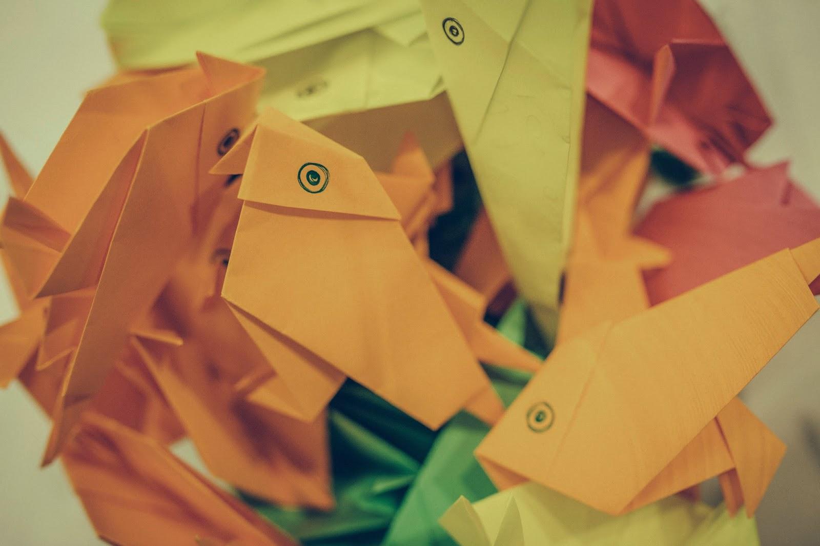 pajaritas de papel