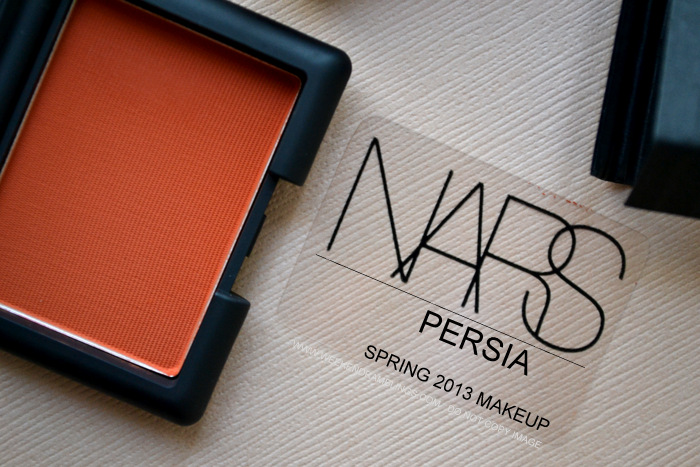 NARS Persia Matte Paprika Eye Shadow Spring 2013 Makeup Collection Indian Beauty Blog Darker Skin Review Swatch FOTD Looks Ingredients