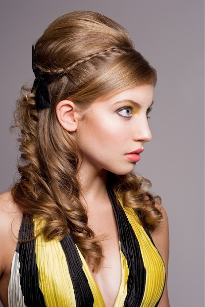 cool accessories prom hairstyle
