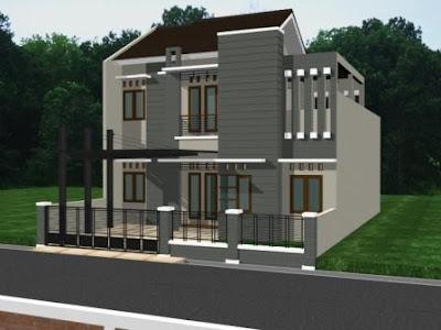 Model rumah minimalis modern lantai 2