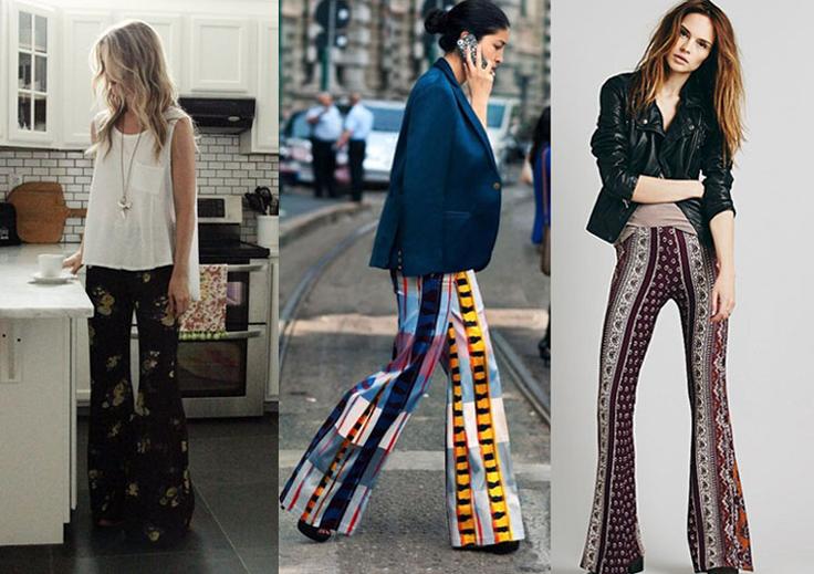 patterned flares street style