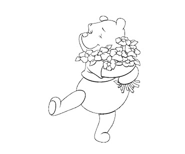 #4 Winnie The Pooh Coloring Page