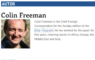 Colin Freeman is the Chief Foreign Correspondent for the Sunday edition of the Daily Telegraph. He has worked for the paper for five years, covering stories in Africa, Europe, the Middle East and Asia