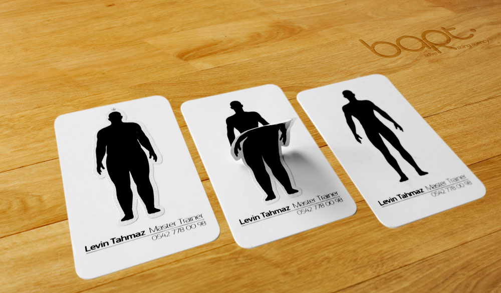 Super Punch: Business card for a personal trainer