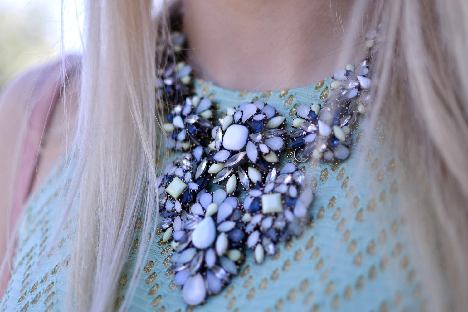 Zara necklace blogger