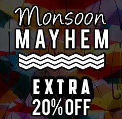 (Expired) Pepperfry Monsoon Mayhem: Flat 20% Extra Off on Furniture, Kitchen & Dining, Home Furnishing & Decor / Flat 7% Extra Off on Appliances, Bath Body