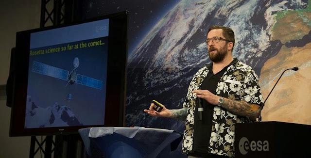 Matt Taylor, ESA's Rosetta project scientist. Credit: ESA