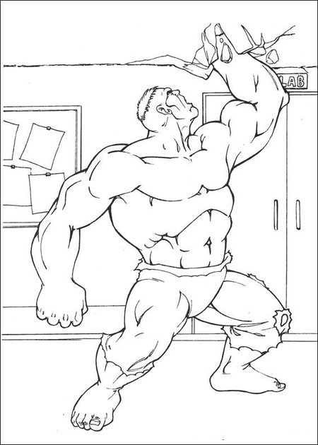 Hulk - Avengers Coloring Pages title=