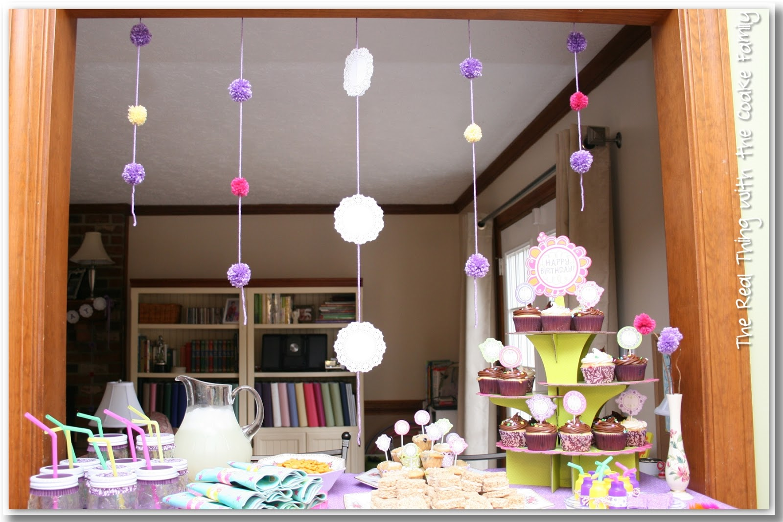 Ideas of cute and easy to make decorations for an American Girl Birthday Party. # : birthday decoration ideas with streamers - www.pureclipart.com
