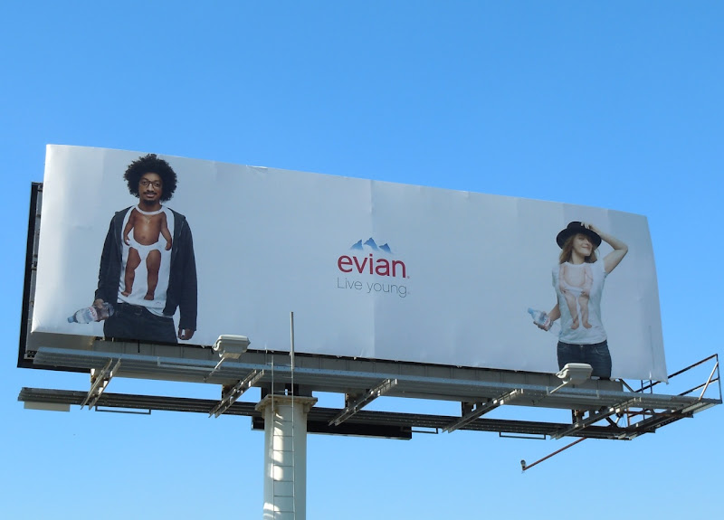 Live Young Evian water billboard